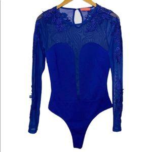 Banjul Semi Sheer Bodysuit Size Small